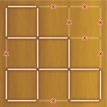 Как сделать из десяти спичек два квадрата 12